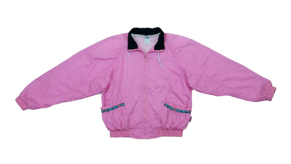 Puma - Pink Windbreaker 1990's Medium