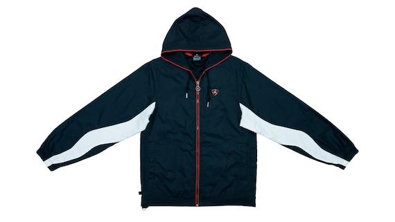 Jordan - B&W 'Jumpman' Warm-up Jacket 1990's Small