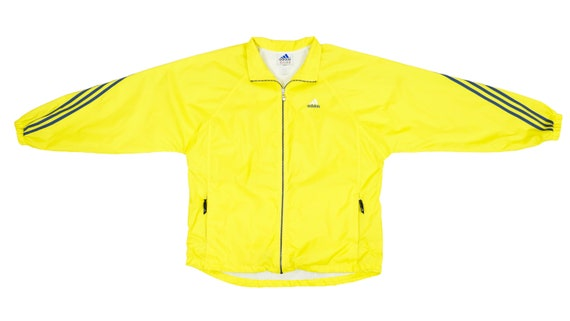 Adidas - Yellow with Black Stripes Windbreaker 199