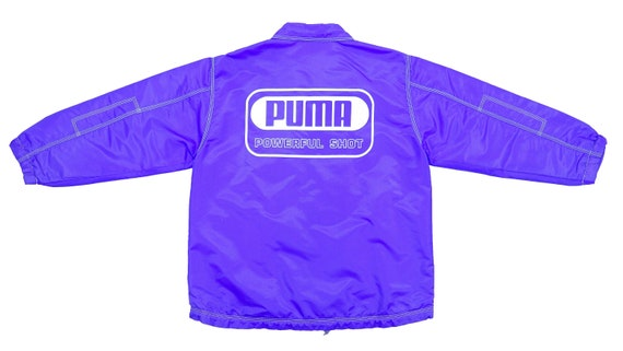 Puma - Purple Spell-Out Windbreaker 1990's Small
