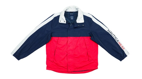 Nautica - Blue & Red Sailing Windbreaker 1990's La