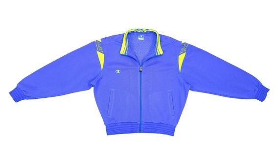 Champion - Blue Bomber Track Jacket 1990's Medium