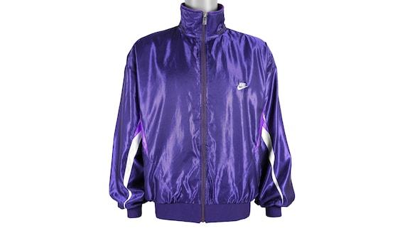 Nike - Purple 'Grey Tag' Windbreaker 1980's Large