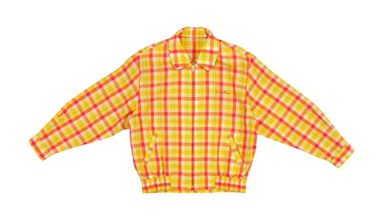 Vintage (Arnold Palmer) - Orange Checkered Bomber
