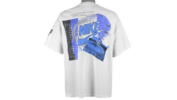 Nike - White 'International' T-Shirt 1990's Large