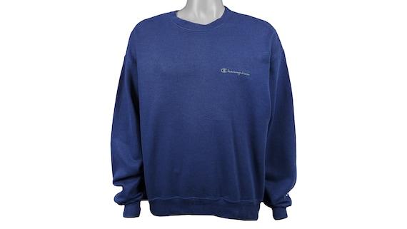 Champion - Blue 'Classic' Sweatshirt 1990's Large