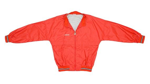 Adidas - Red Bomber Jacket 1990's Medium
