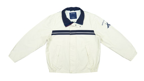 Nautica - Beige with Blue 'Competition' Sailing J… - image 1