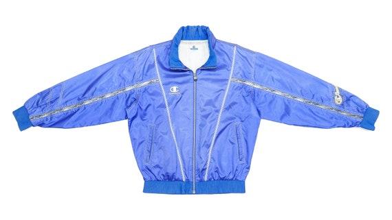 Champion - Blue Bomber Jacket 1990's Large
