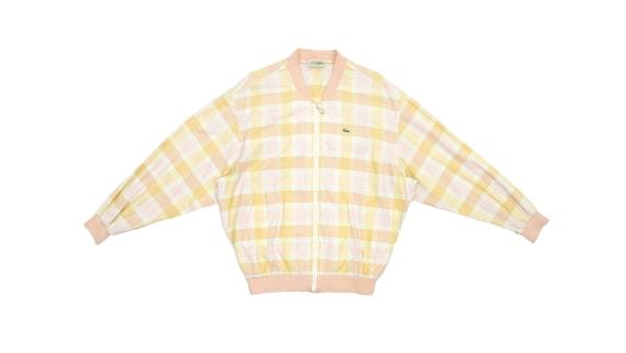 Lacoste - Yellow & Orange 'Chemise' Bomber Jacket… - image 1
