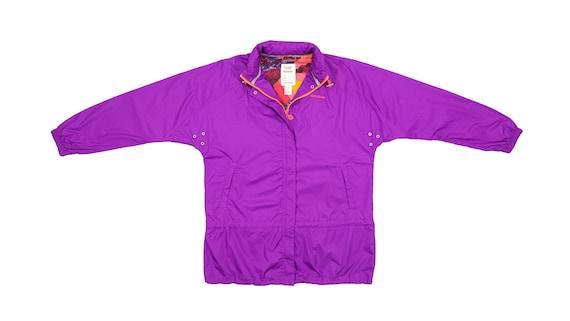Reebok - Purple Patterned Windbreaker 1990's Mediu
