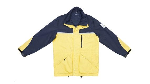 Nautica - Dark Blue and Yellow Sailing Jacket 1990