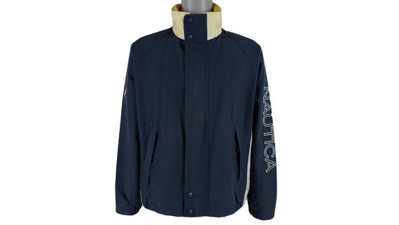 Nautica - Blue spell-Out Sailing Windbreaker 1990'