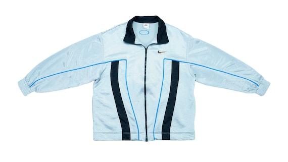 Nike - Silver Track Jacket 1990's Large