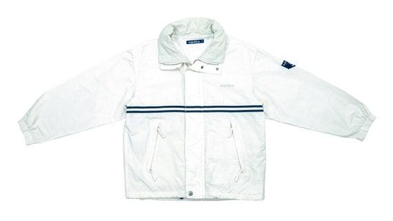 Nautica - White Sailing Jacket 1990's Large