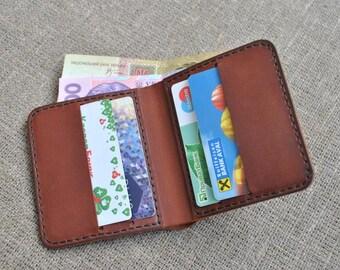 minimalist wallet Mens Slim Wallet Leather Wallets Minimalist Card Holder case Card wallet Front Pocket Wallet Minimalist Wallet for Men