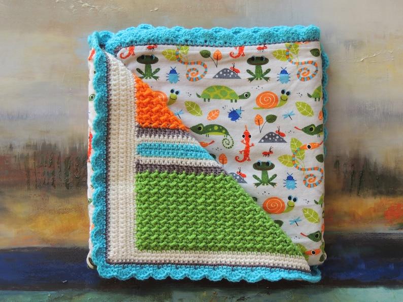 Cute Creatures  Handmade Crochet Baby Blanket image 0
