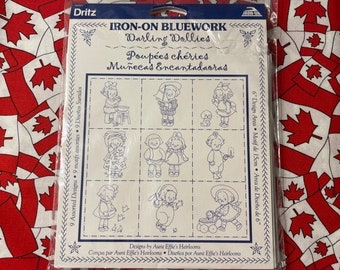 Dritz Bluework Tansfers Iron On Toy Box Treasures Images of Aunt Effie/'s Heirlooms NOT DIGITAL 6 Inch Design Area Unopened Package