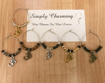 Om Wine Charms
