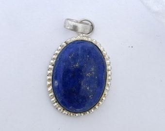 Lapis Lazuli Pendant, Lapis Lazuli Silver Pendant, Designer Pendant Jewelry, 925 Sterling Silver Pendant, Handmade Pendant, Blue Pendant