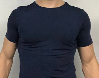 Navy Cropped Tee