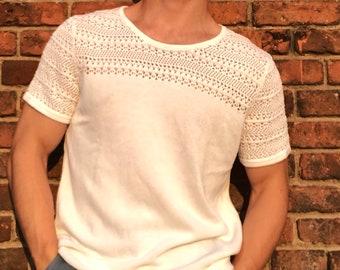 White Knit T-Shirt