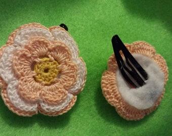 Irish rose hair clips