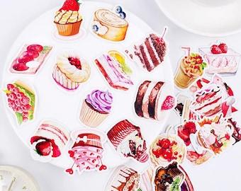 a0f4fe5cf5c2 Dessert stickers | Etsy