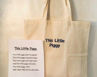 This Little Piggy Went To Market Rhyme Bag