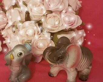 Vintage elephant figurines