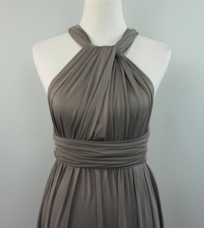 47fb6247333 Bridesmaid dresses/ Gray bridesmaid dress/ long gray dress/ | Etsy