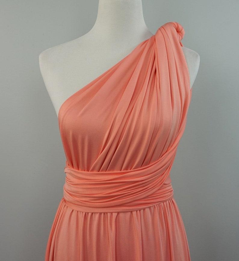 469084f6527 Corail rose demoiselle dhonneur robe corail rose longues