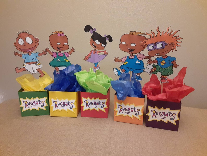 baby shower center pieces African American babies Rugrats