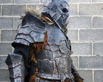 Orc armor set, Orcish armour, Fantasy LARP armor, Barbarian costume, Berserker style, Monster armor, Cosplay props