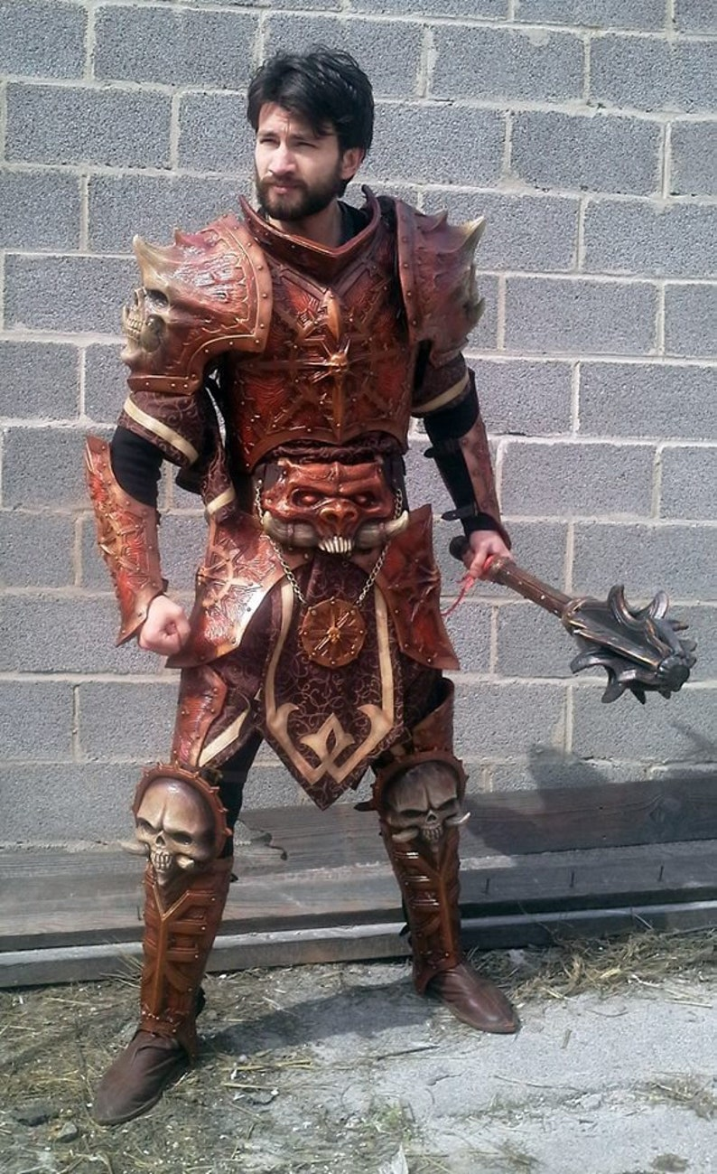 Khorne armor barbarian belt Chaos knight belt Fantasy armour LARP and Cosplay Chaos armor Prop armor