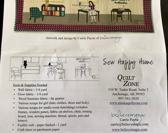 Alaska 2016 Row by Row Quilt Kit ~ Sew Happy Home ~ Design by Carrie Payne Believe Magic