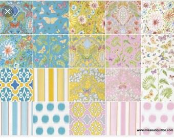 Charm Pack - Free Spirit Fabric Dena Designs Butterfly Garden #iamafreespirit