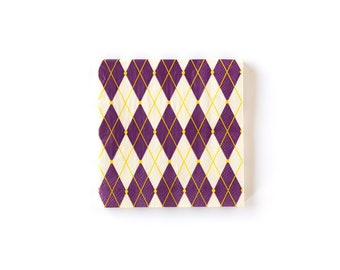75b88248c Mardi Gras Paper Napkins Cocktail 25 Count Beverage Napkins Purple Harlequin  Pattern Mardi Gras Party Holiday Party