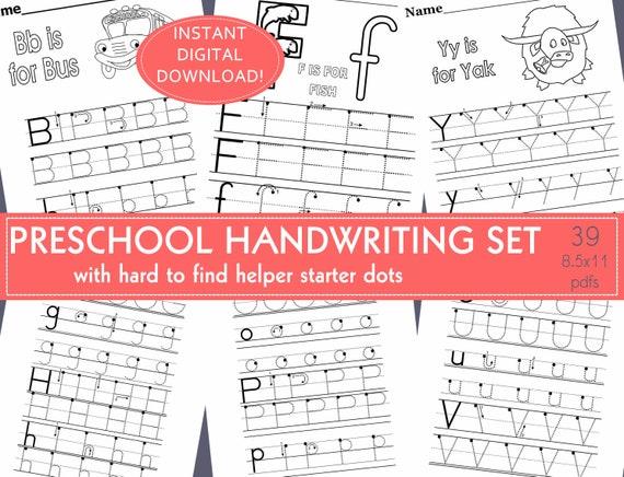 Preschool Handwriting/Dot Tracing Alphabet Tracing Practice