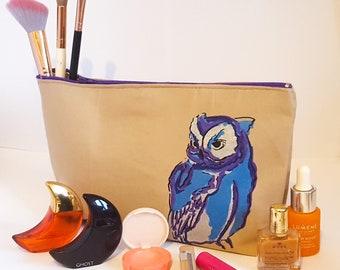 1fcf0aacc541 Large Owl makeup bag