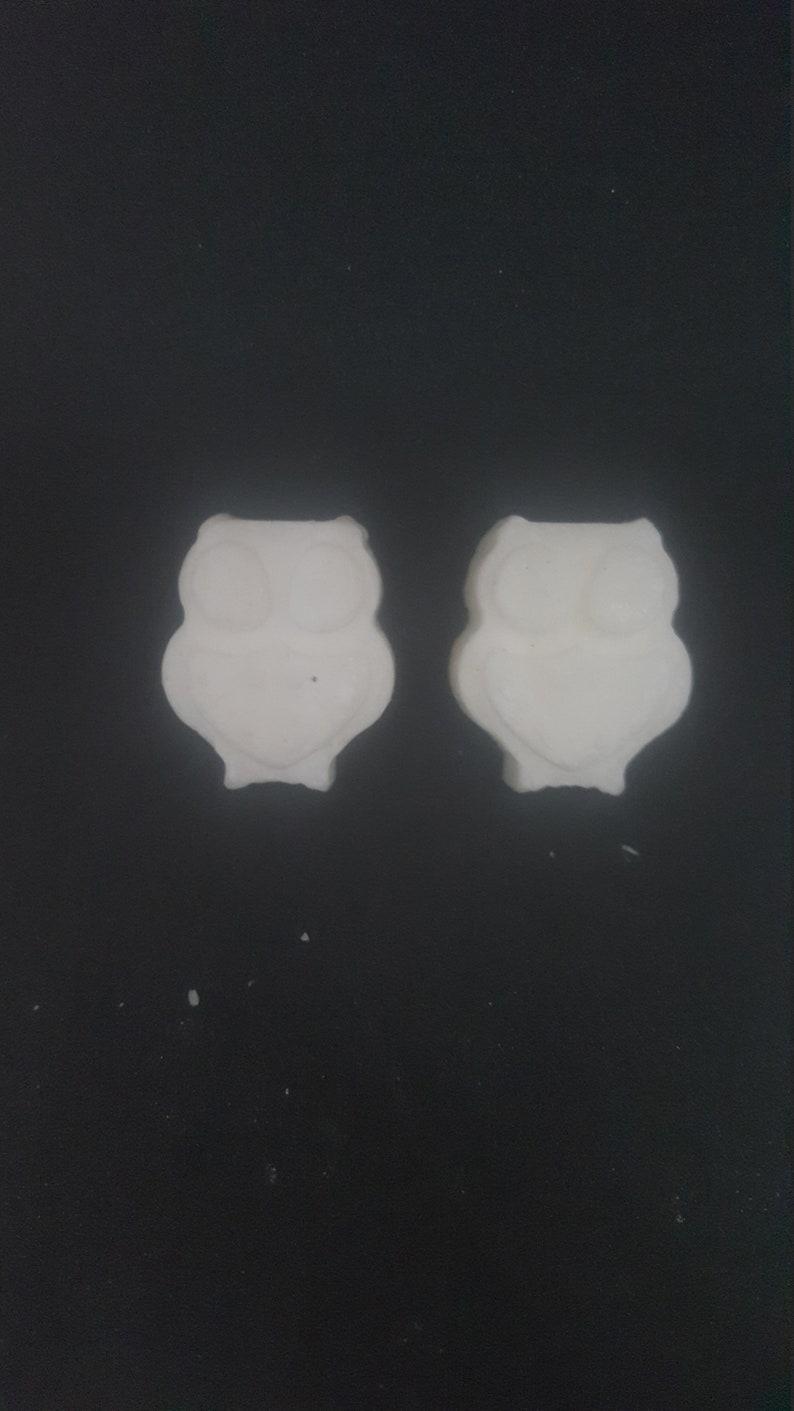 Soy Wax Melt White Set of 2 Sandalwood Owl shaped