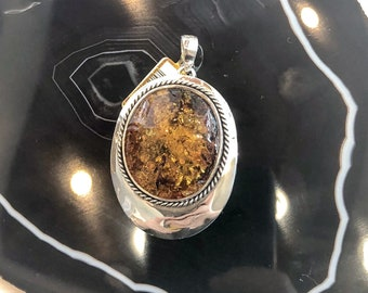 Amber in Sterling Silver Pendant
