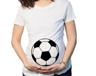 3cfa934e6562a Soccer Ball Maternity Shirt | Custom Shirt Fubol Customize tshirt |  Personalized Shirts | Custom shirts | Adult shirts | women Soccer