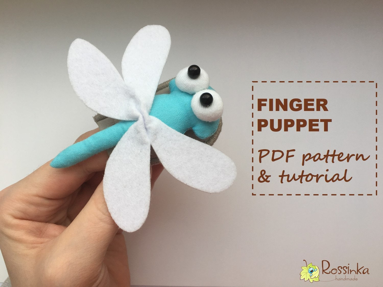 finger puppet dragonfly pdf pattern and tutorial toy | etsy