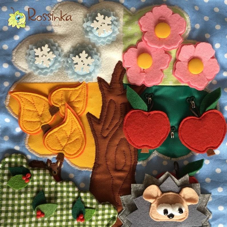 No glue toy Felt Pattern PDF pattern Hedgehog under the tree Home Decor Fine Motor Skills Pattern for Quiet book page Montessori