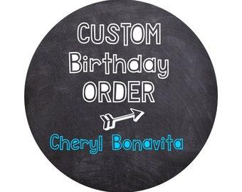 Custom Birthday Printable, Chalkboard