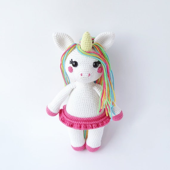 Free Crochet Unicorn Pattern - Red Ted Art - Make crafting with ... | 570x570