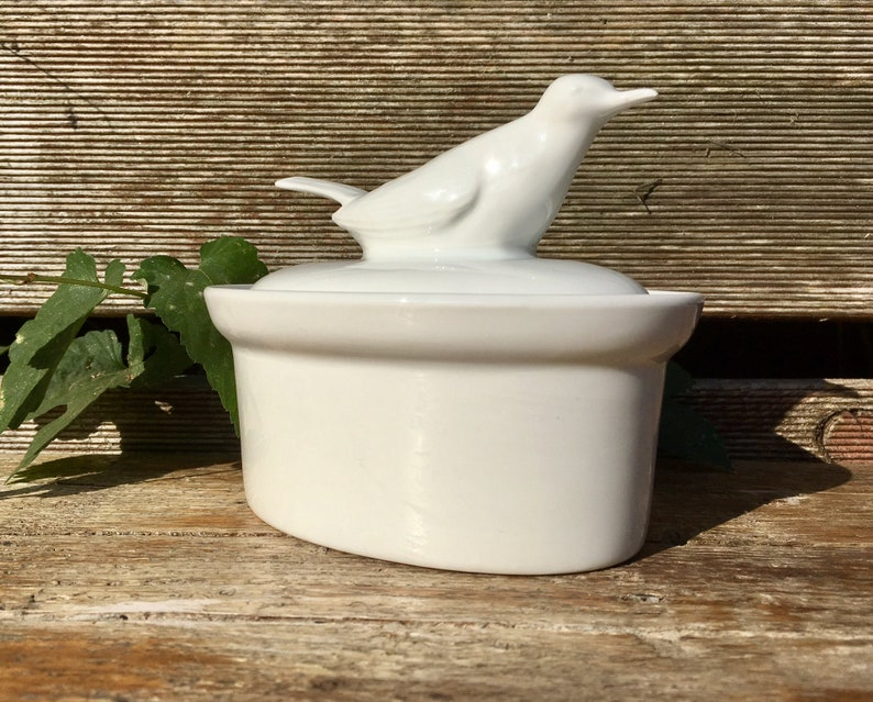 Small Pate Dish with Bird on Top