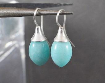Amazonite earrings. Earrings. Amazonite Pampeln. Sterling Silver Earrings with Amazonite Pampeln. Earrings Silver 925 with Amazonite