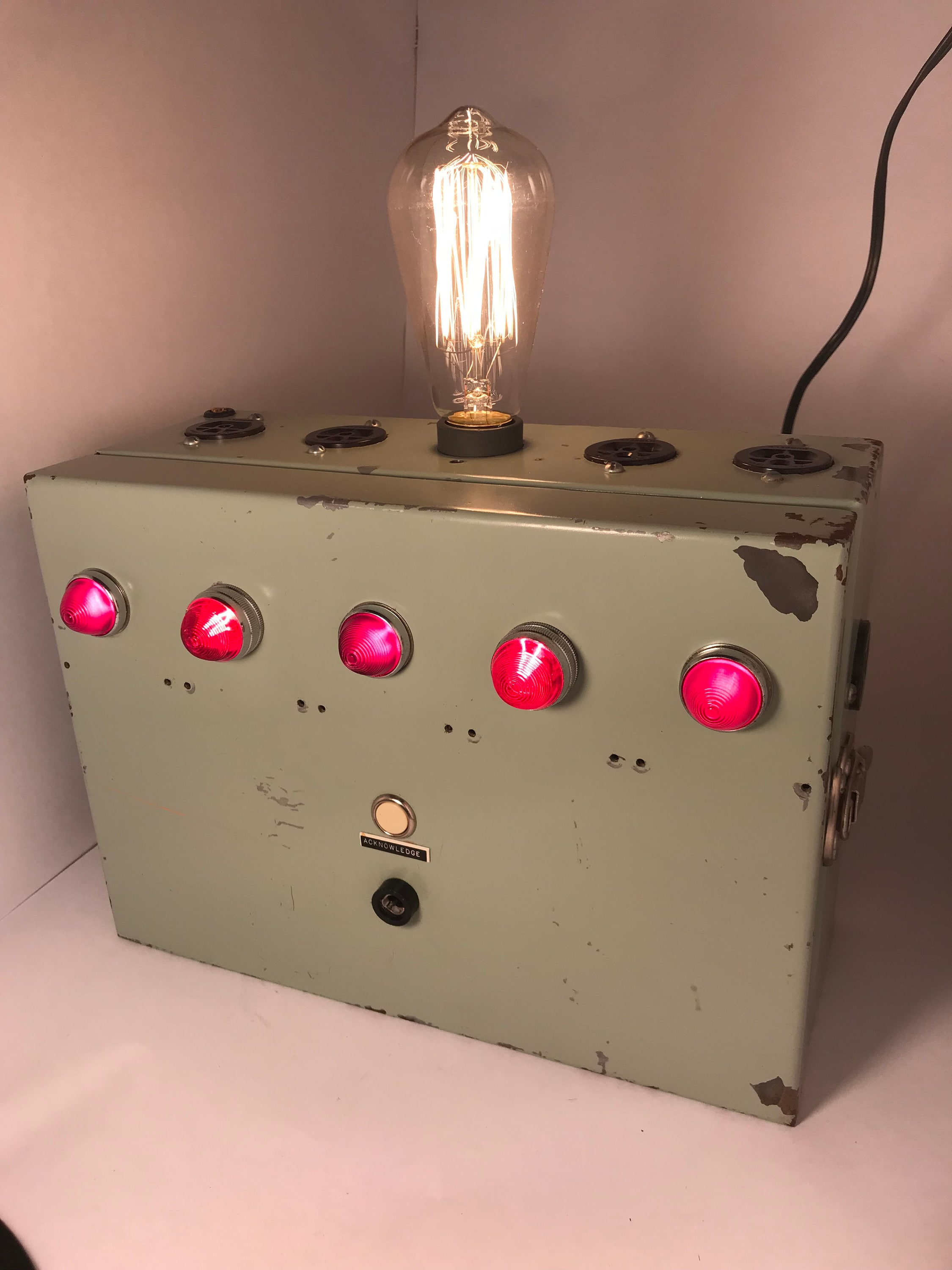 Industrial Fuse Box Lamp Boxes From The 1950 Zoom